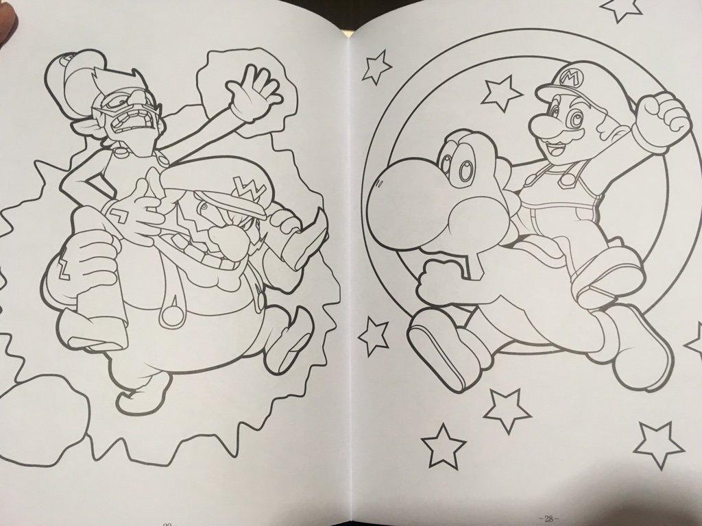 Kikai On Twitter マリオのぬりえを発見これ3dアートがベースの線画
