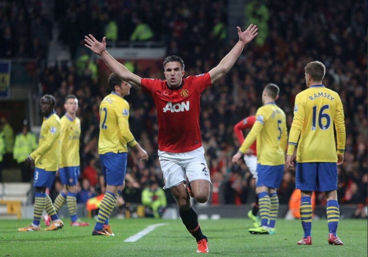 "Lovefootball on Twitter: ""Van Persie celebration against Arsenal ..."