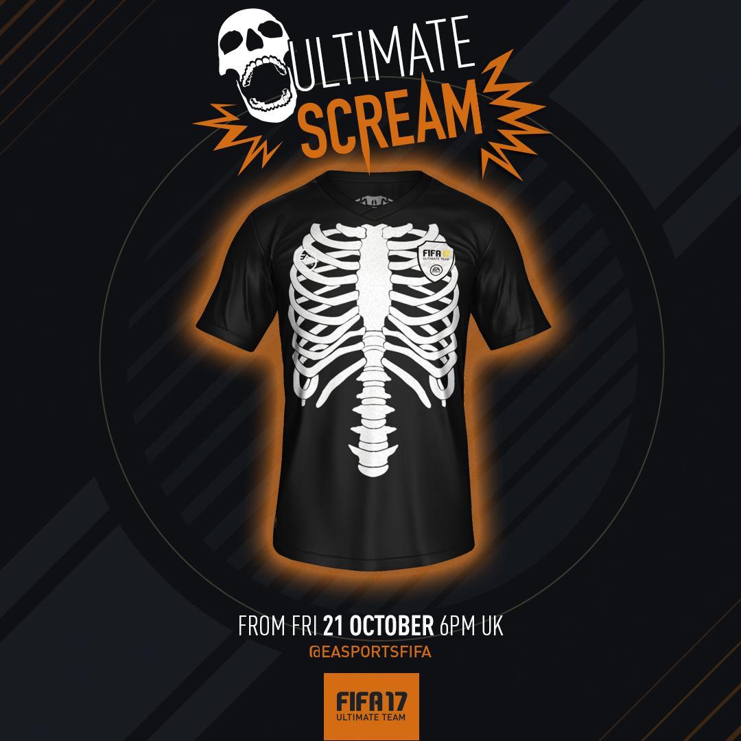 FIFA 17 Skeleton Kit - Evento do Dia das Bruxas para FUT