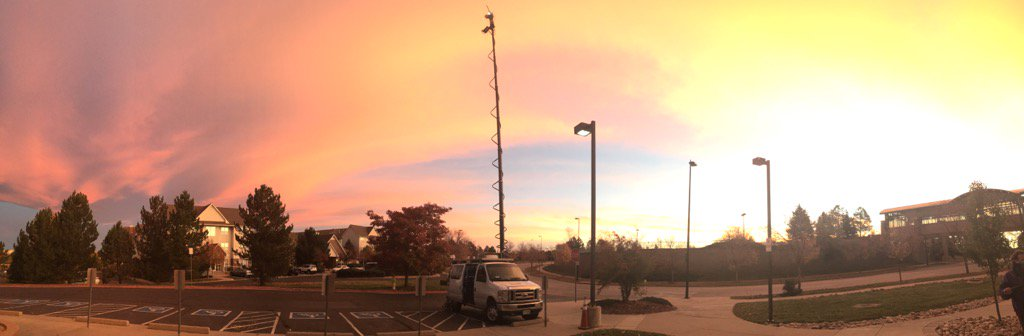Gorgeous sunrise this morning in Highlands Ranch