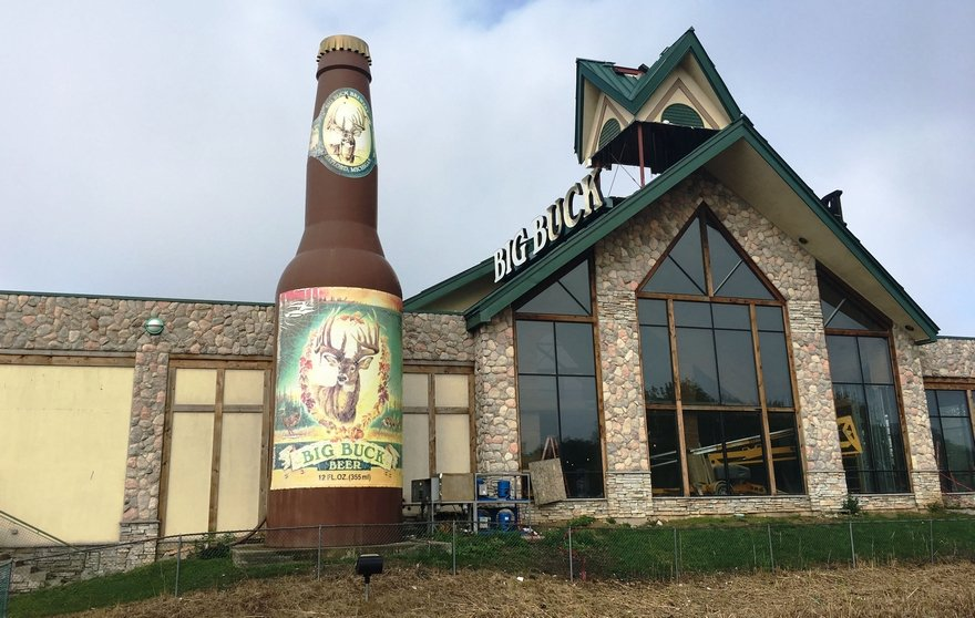 Perfect for the man cave? Big Buck Brewery beer bottle to come down Wednesday