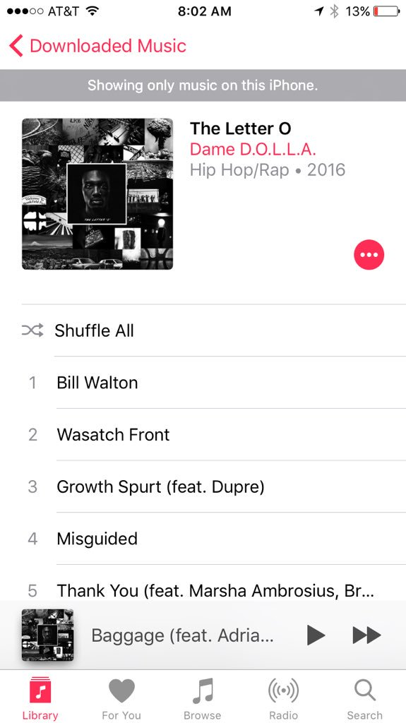 Not only did @Dame_Lillard put together a good album, he put together a good Hip-Hop album.. https://t.co/jTyEMEVUEO