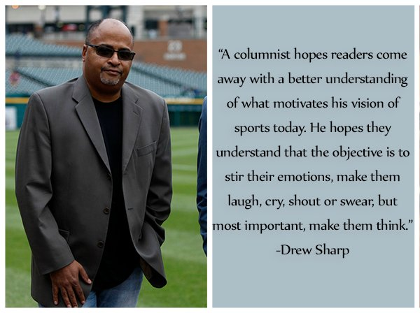 You'll be missed, Drew Sharp.