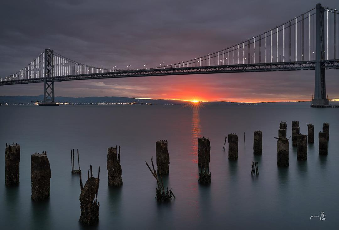 Gerald M. shared this amazing pic of a smoldering San Francisco sunrise using abc7now!
