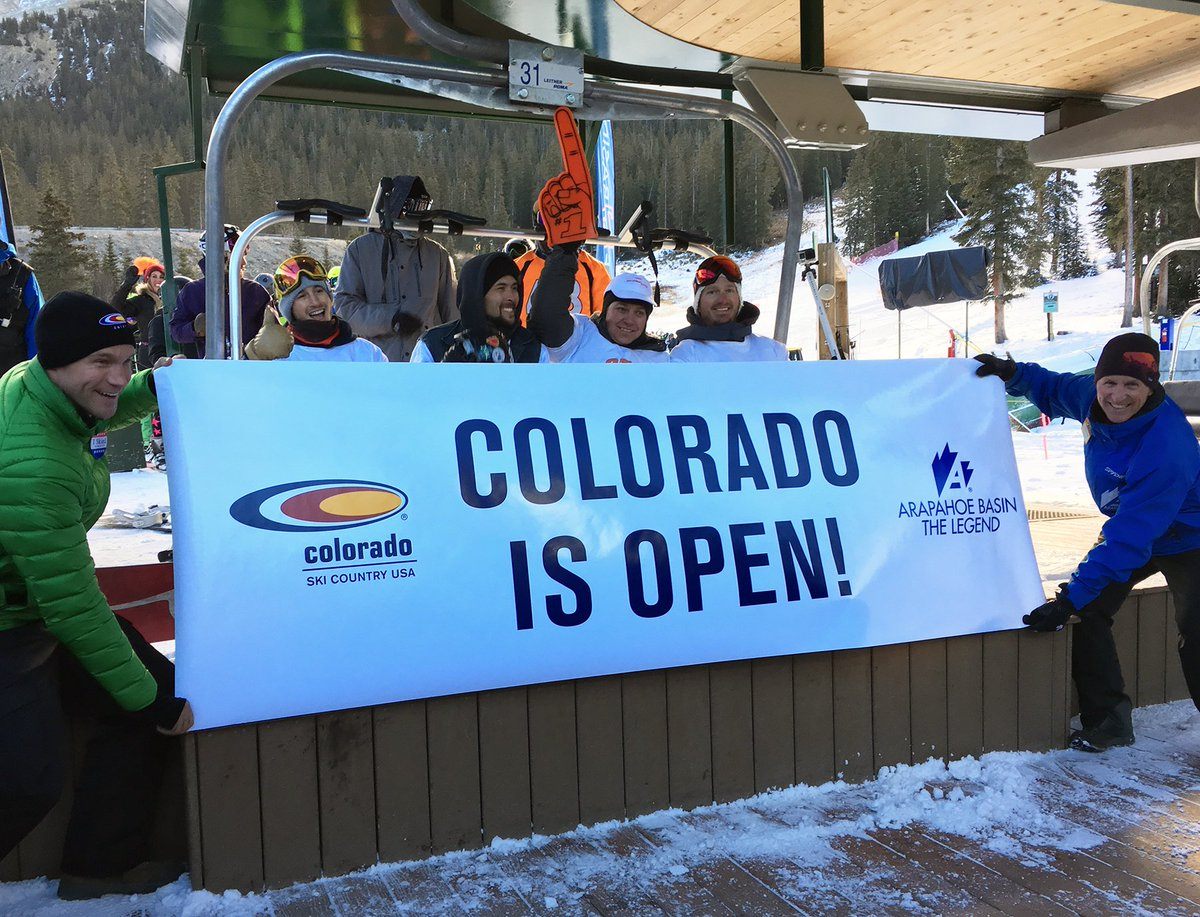 It's official! Congratulations @Arapahoe_Basin! #OpeningDay #SkiCountry https://t.co/NSimK6poyD