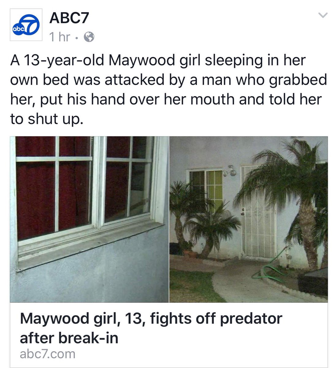 Maywood residents are on edge after a prowler is caught groping a 13 year old girl in her bedroom. Details on abc7