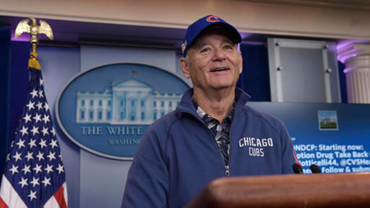 Comedian Bill Murray makes surprise visit to White House briefing room