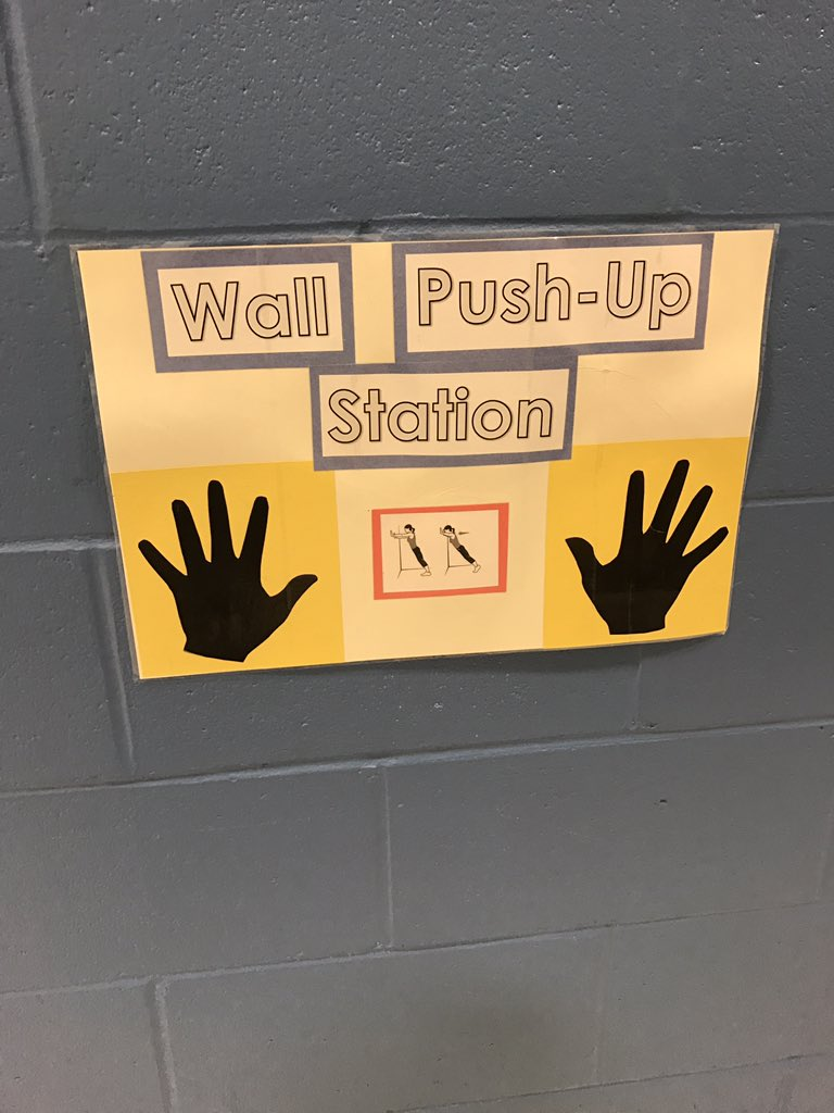 Great work from the OTs - posting visual aids in the hall way to promote motor breaks to ALL students to develop coordination! #fiskeschool https://t.co/3DYUt6trvl