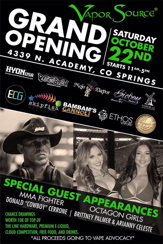 Come hang with us tomorrow #ColoradoSprings at the new @vaporsource @jason_casados