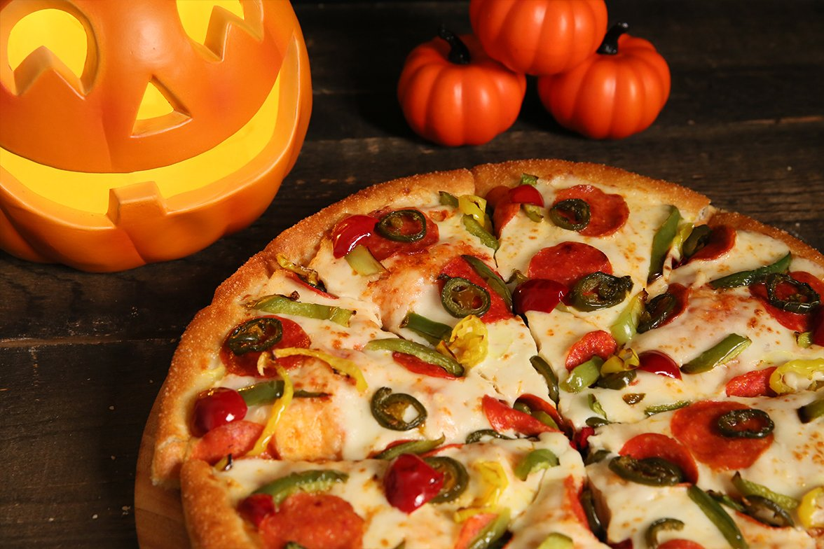 Image result for pumpkins and pizza