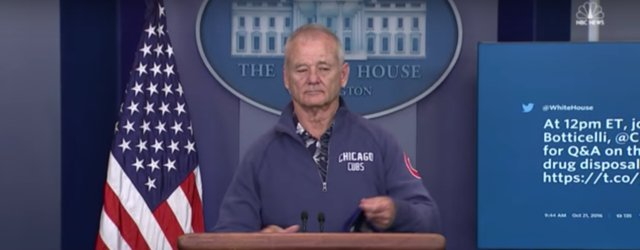 Hero Bill Murray Crashed White House Press Room To Talk Cubs