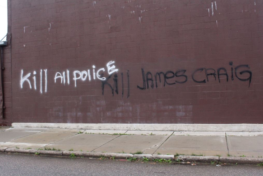 Graffiti threat against Detroit Police Chief Craig painted on building, reports @FOX2Erika