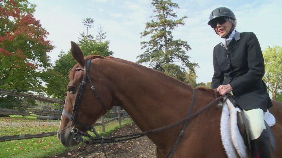 This 96-year-old Ontario woman is still horseback riding and has no plans to stop