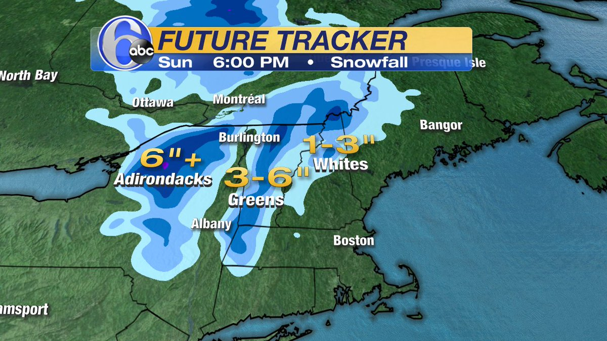 YOU HEARD CORRECTLY!Accumulating snow is expected in the higher elevations of New England this weekend.