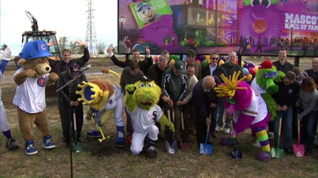 Crews break ground on Mascot Hall of Fame in Whiting, Ind.
