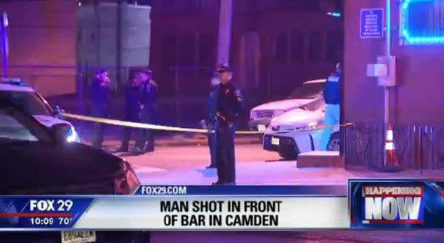 Police investigate shooting outside Camden bar
