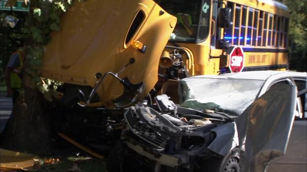 Woman, 83, hospitalized after Wilmington school bus crash