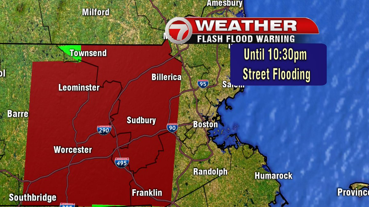 Flash Flood *WARNING* until 10:30pm for areas shaded in red. *Localized street flooding likely*. 7news