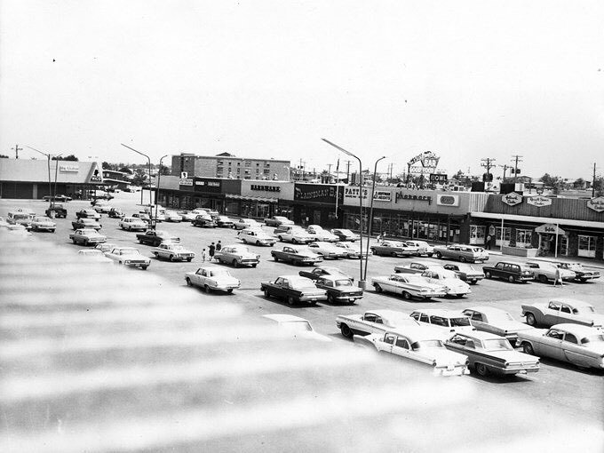 As part of Sam Hoffman's planned community, Hoffman Heights had a large shopping center an…