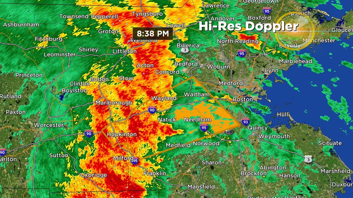 Metrowest also getting the torrential rain now...and heading east toward the 128 corridor. wbz