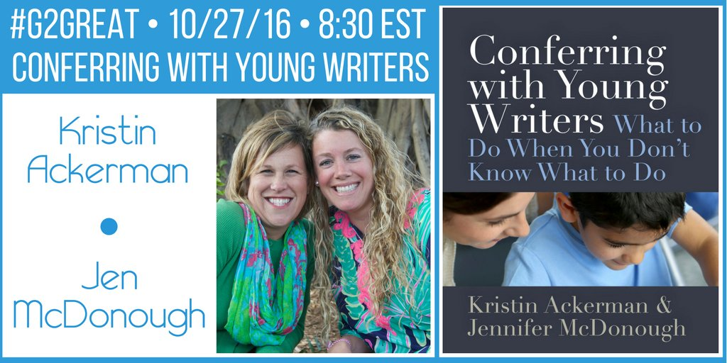 #G2Great talks w/guests Kristin & Jen about their new book tonight  #G2Great @stenhousepub @kristinack1 @jenjmcdonough https://t.co/viobaKpHKf