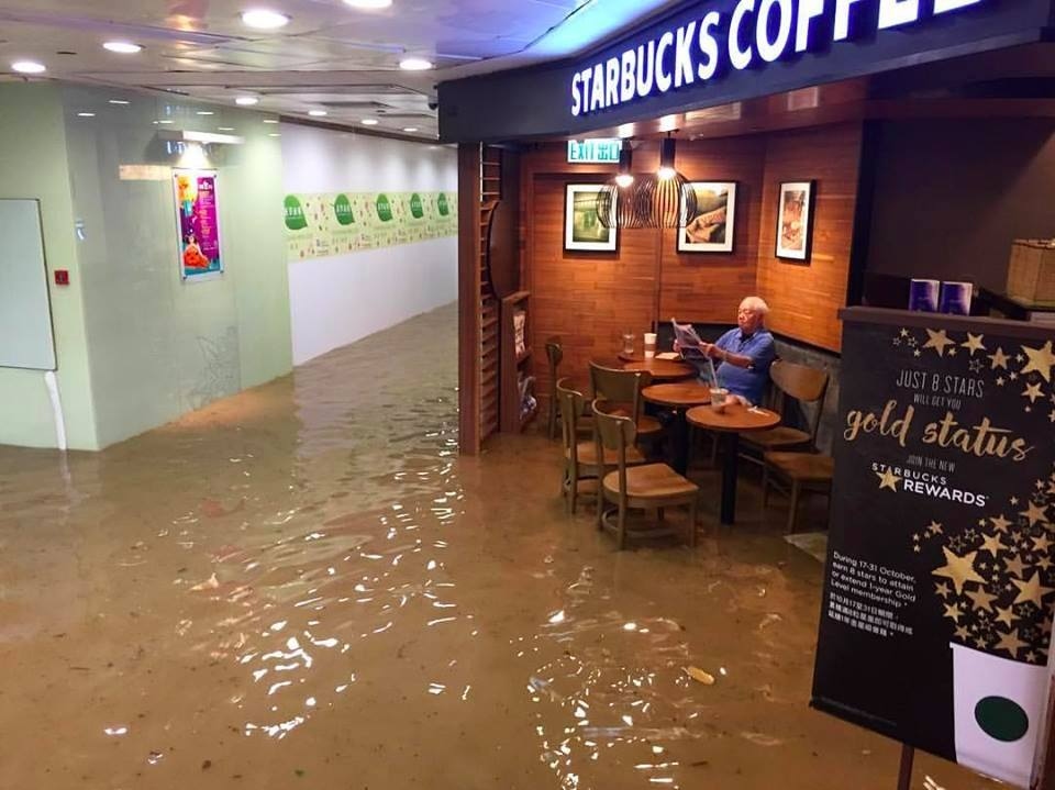 StarbucksUncle takes internet by storm as he sits at Starbucks during a flood