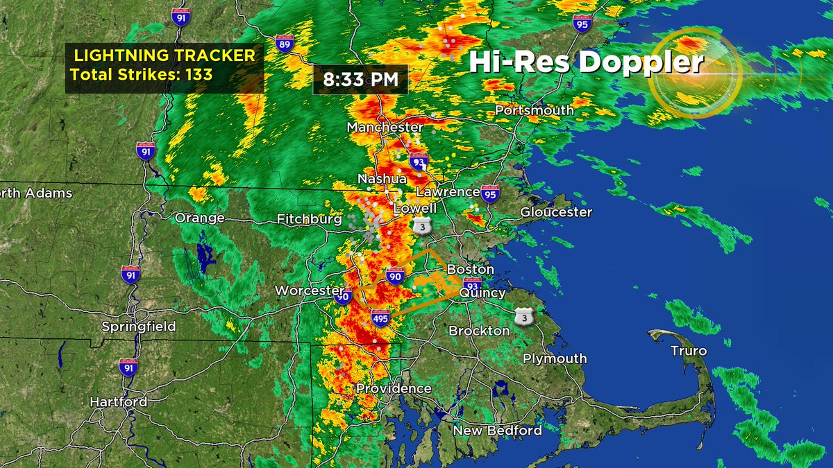 The 2 biggest lines of storms this year? February and October. Go figure. Lightning increasing still. wbz