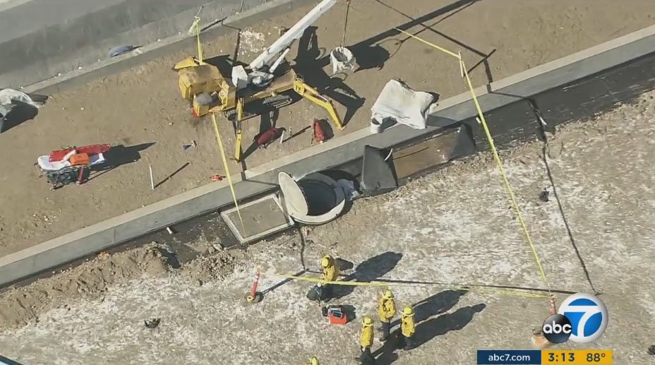 BEL AIR UPDATE: Worker who fell down sump well at construction site declared dead at scene, LAFD says