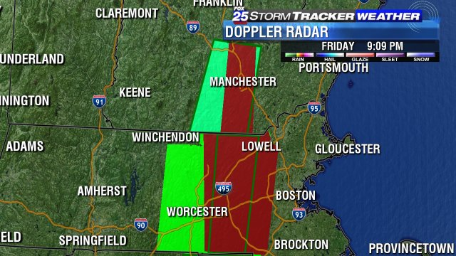 FLASH FLOOD WARNING areas are in RED. Many reports of cars stuck tonight in flood waters.