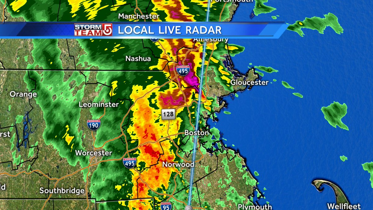 Storms are moving north at about 32mph. wcvb