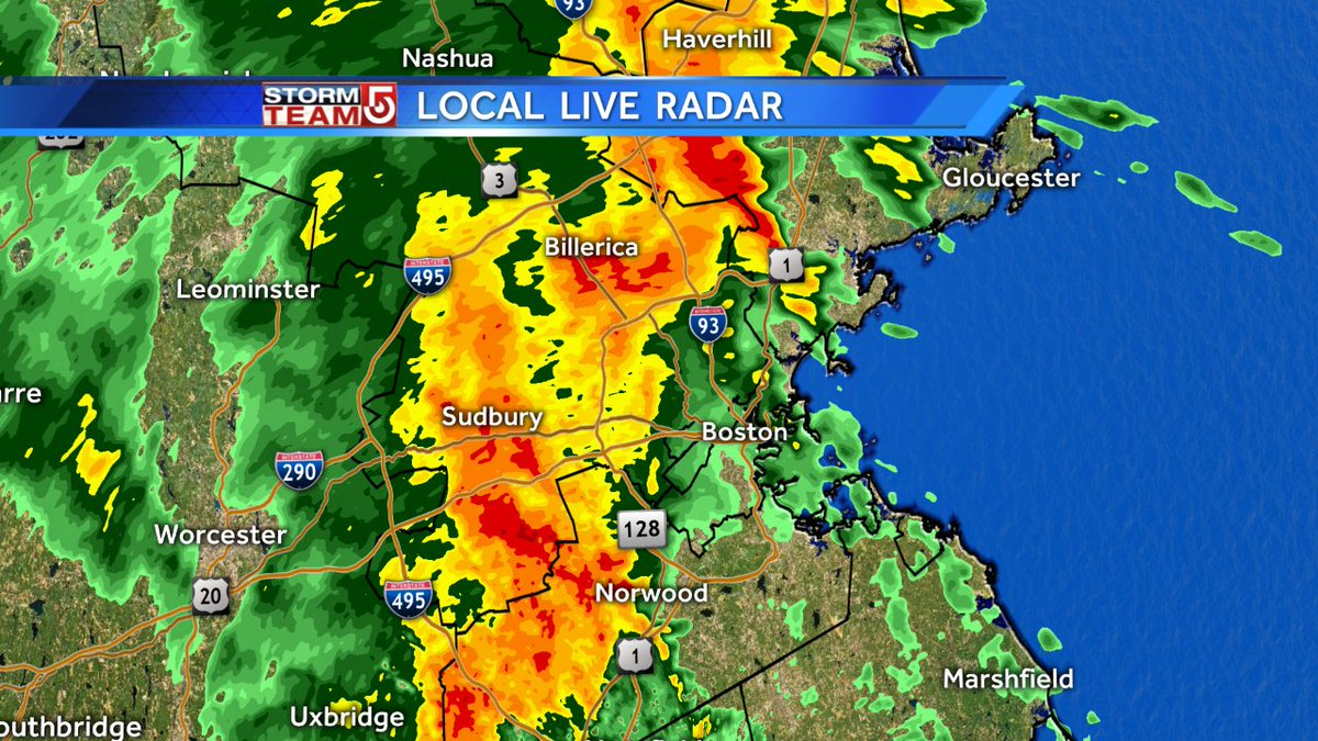Torrential rains inching closer to Boston. wcvb