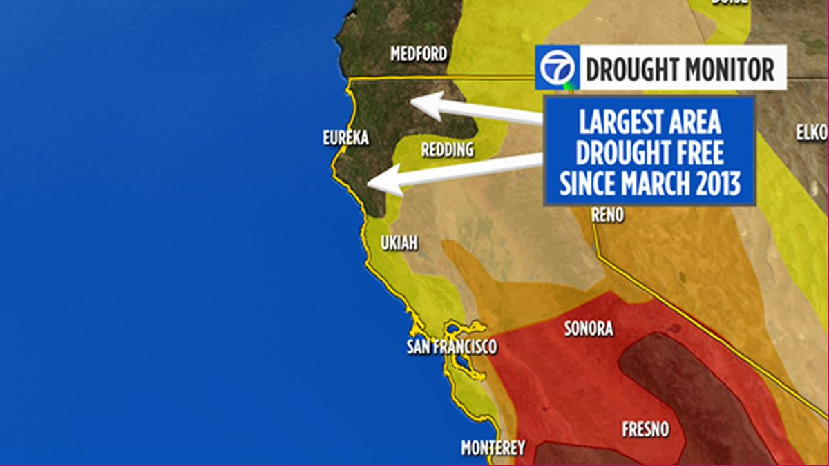 Soaking rains last weekend helped erase the drought in some parts of NorCal.