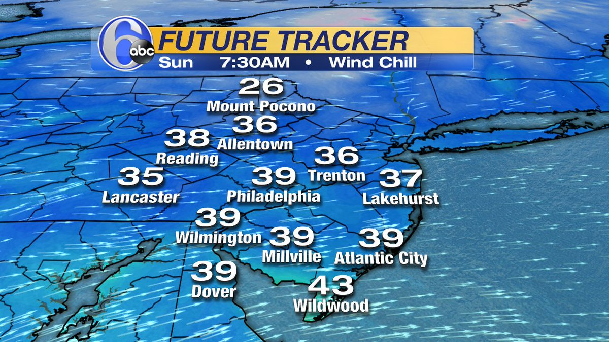 SUNDAY A.M. WIND CHILLSWith westerly winds 10-15mph we will be talking about wind chills in the upper 30s early Sun