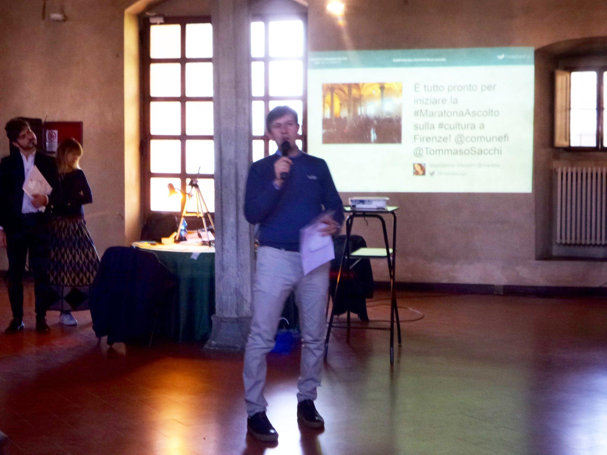 #maratonaascolto il sindaco @DarioNardella introduce il grande tema della #cultura a #firenze https://t.co/isOnBghFnQ
