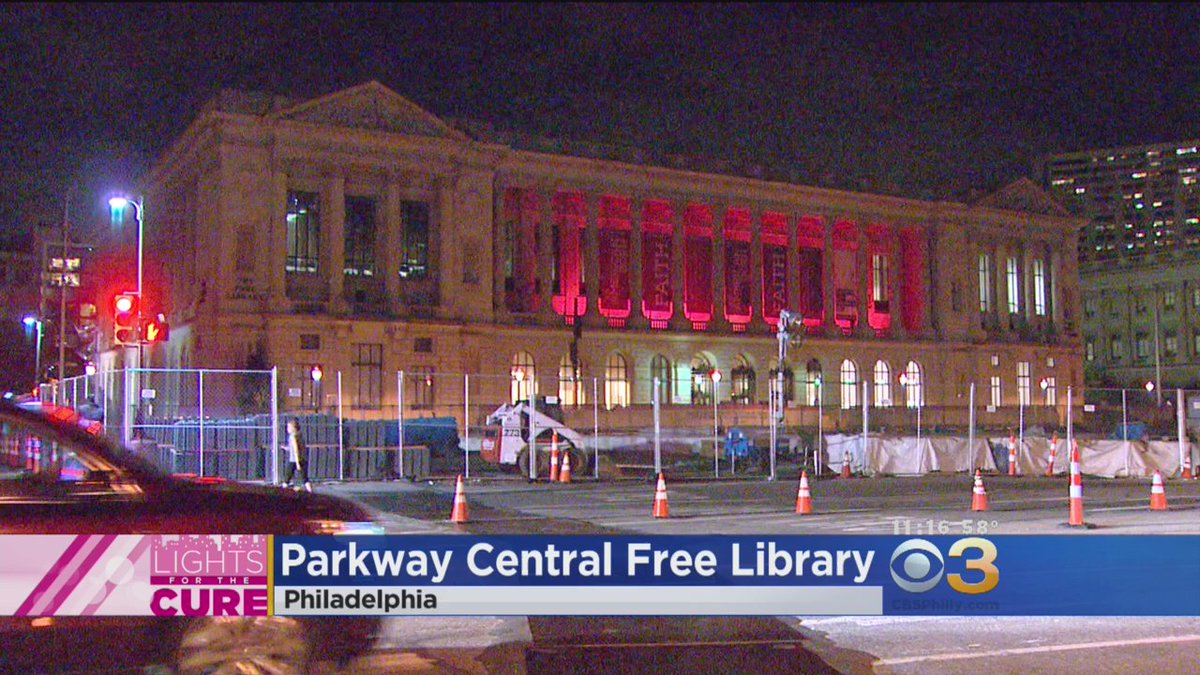 LightsForTheCure: Parkway Central Free Library