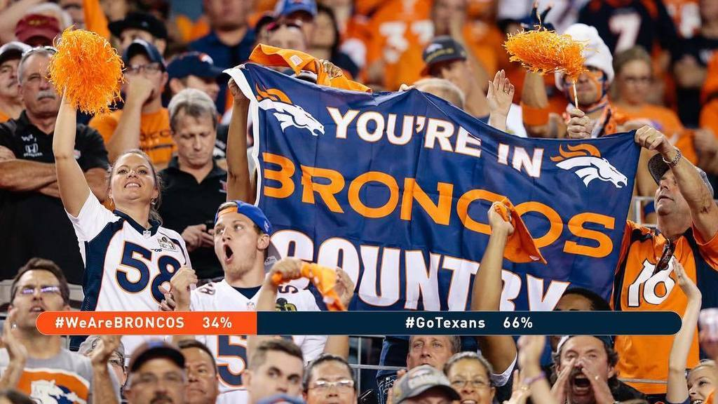 Let's go, BroncosCountry! Post to Twitter or Instagram using WeAreBRONCOS as often as po…