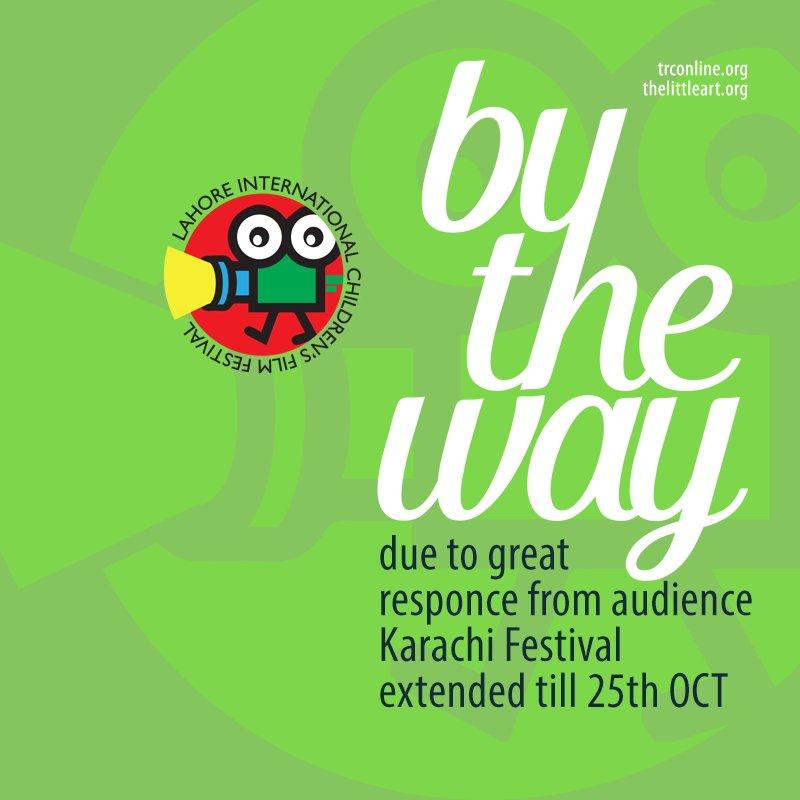 #International Children's #Film #Festival #Karachi has extended dates  https://t.co/I5H7QBRUyf #LICFF16 #TLAORG #Pakistan #education https://t.co/cD31Tf22BC