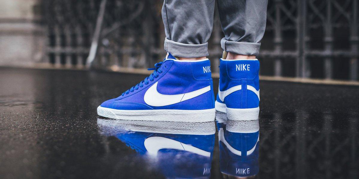 half off f46b5 c53e6 Nike Blazer Mid Premium - Racer Blue White-Gum Light Brown shop here ▷  http   bit.ly 2enVdYE pic.twitter.com mtsP1Bo0uS