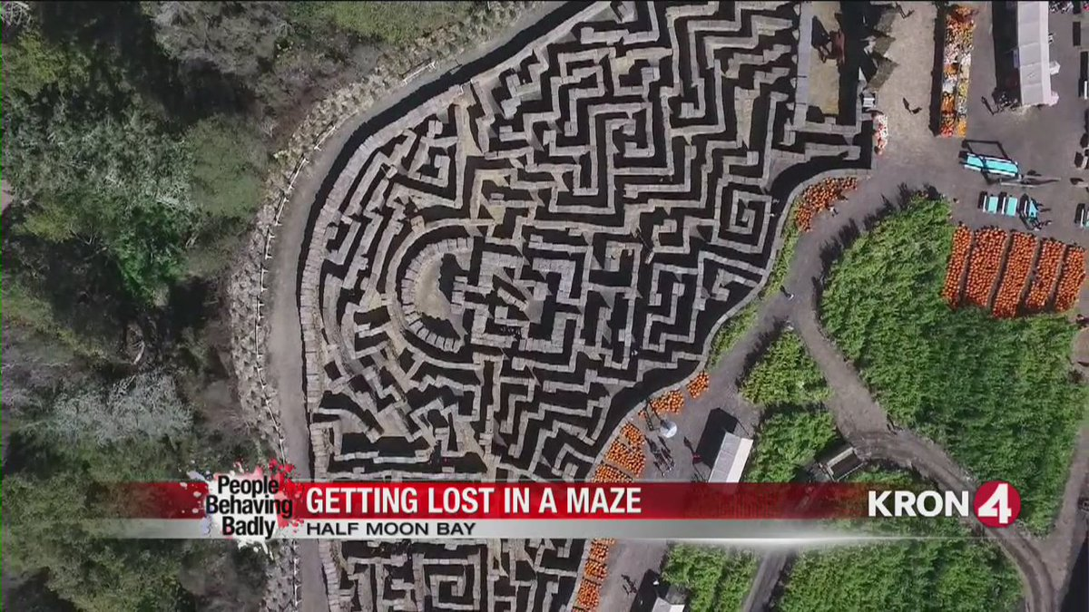 People Behaving Badly: Getting lost in a maze. @SRobertsKRON4 reports.