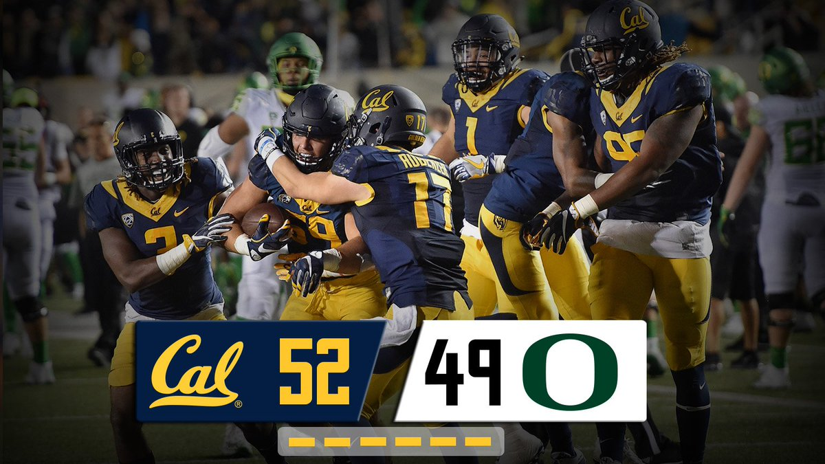 Way to battle for it, @CalFootball. Thanks for hanging in there with us, CalFamily!