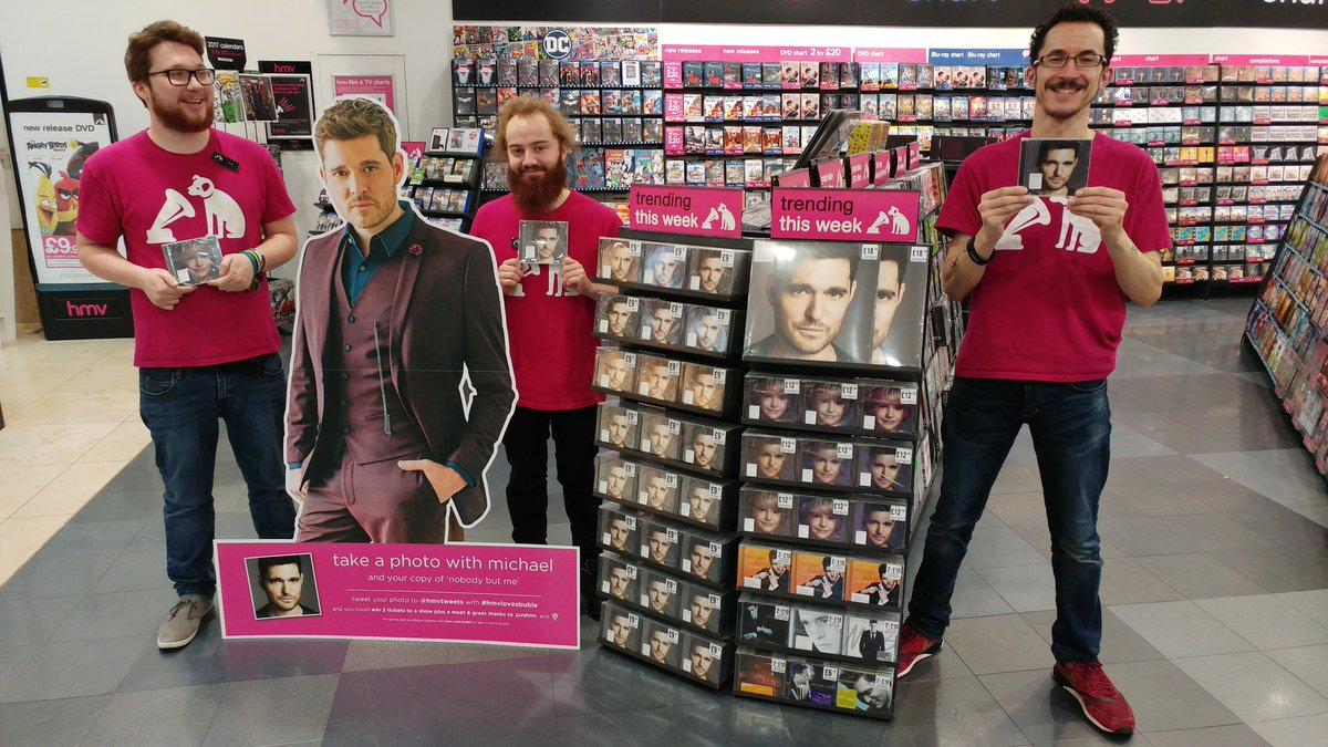 Hmv on twitter find our buble cut outs in store tweet in a pic hmv on twitter find our buble cut outs in store tweet in a pic for a chance to win a meet greet with michaelbuble himself m4hsunfo