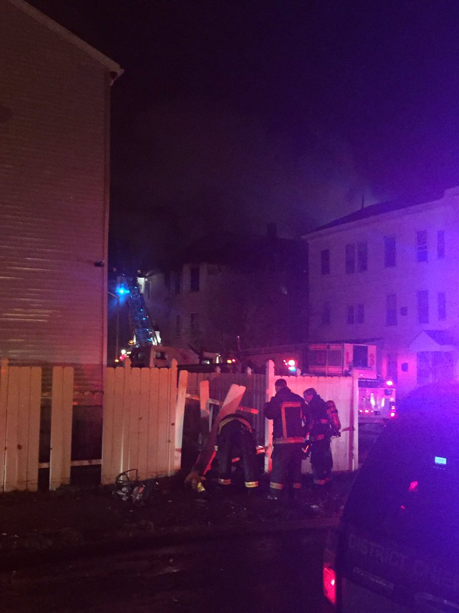 Firefighters fight blaze at 5 Pelham Street in Worcester. wcvb