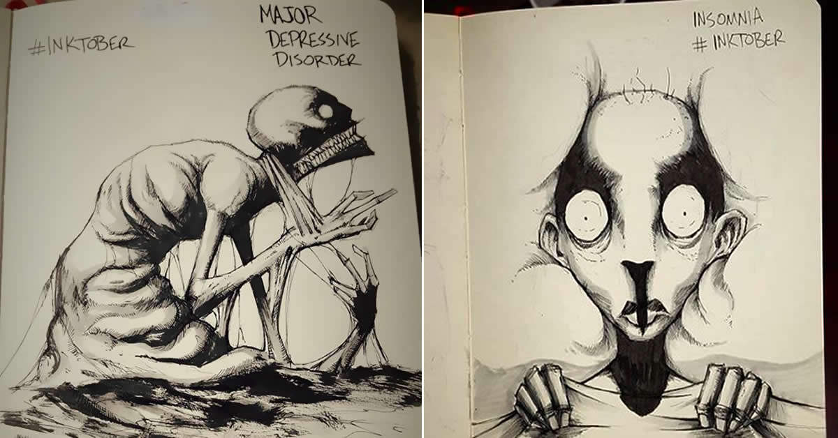 Artist With Autism Illustrates >> 9gag On Twitter Artist Shawn Coss Illustrates Mental Illness And