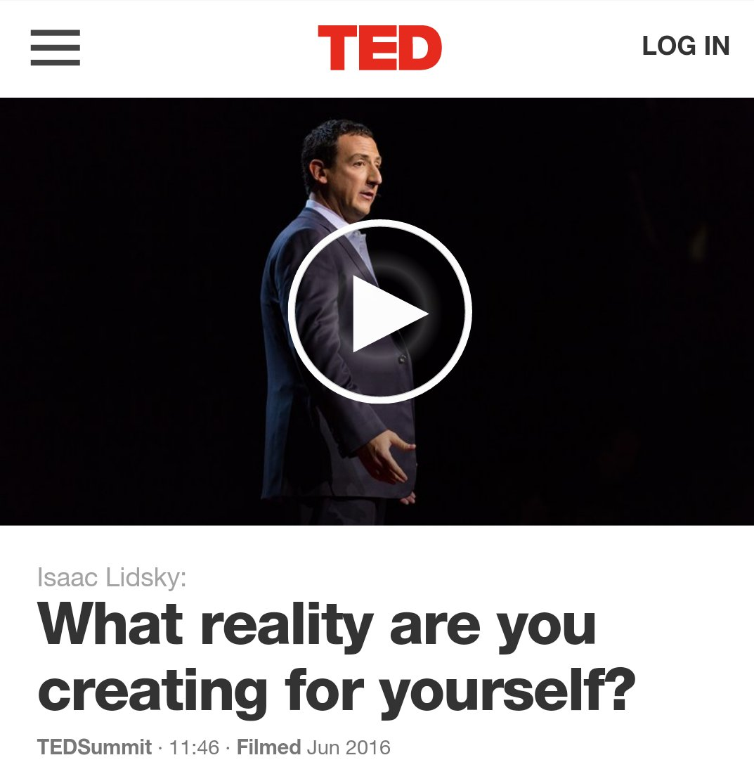 Isaac lidsky what reality are you creating for yourself