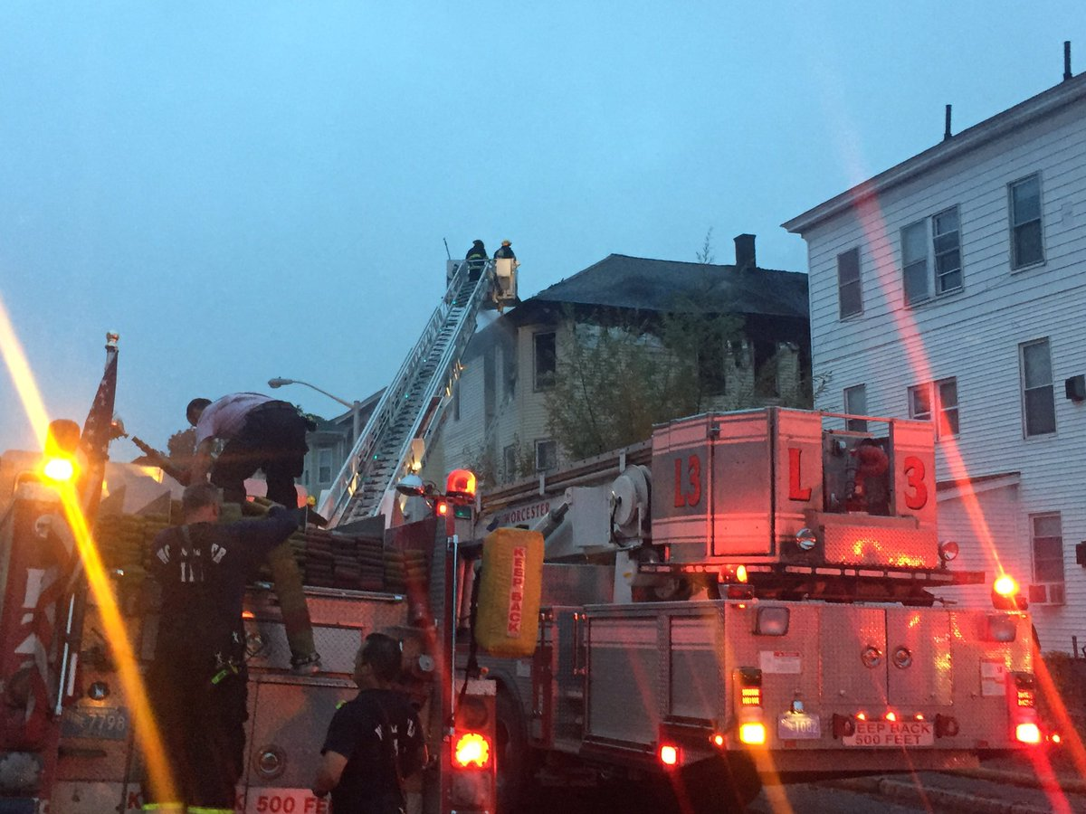 Six people rescued from Worcester fire, including two children. wcvb