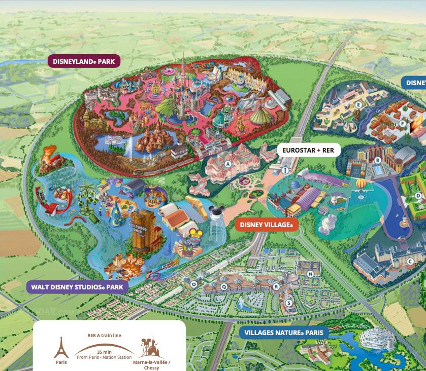 DLP Today On Twitter New Disneyland Paris Resort Map Now Featuring - Paris map 2016