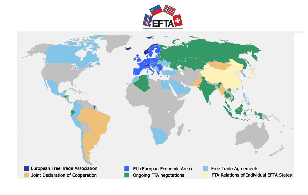 Efta 4 Uk On Twitter The Efta States Have 27 Free Trade Agreements