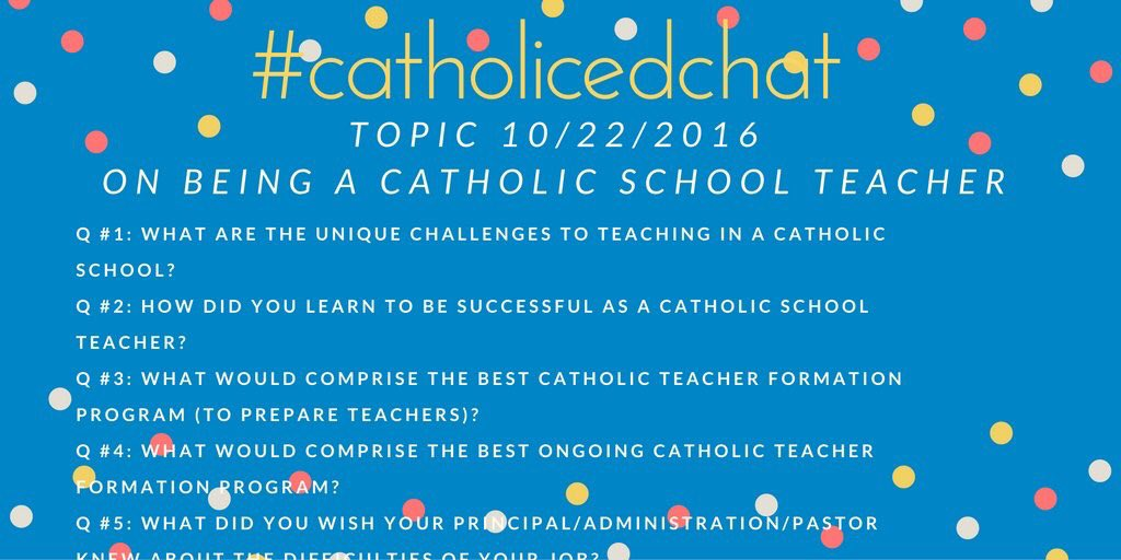 See you soon! #catholicedchat 8am CST. https://t.co/BzkUxHsW6w