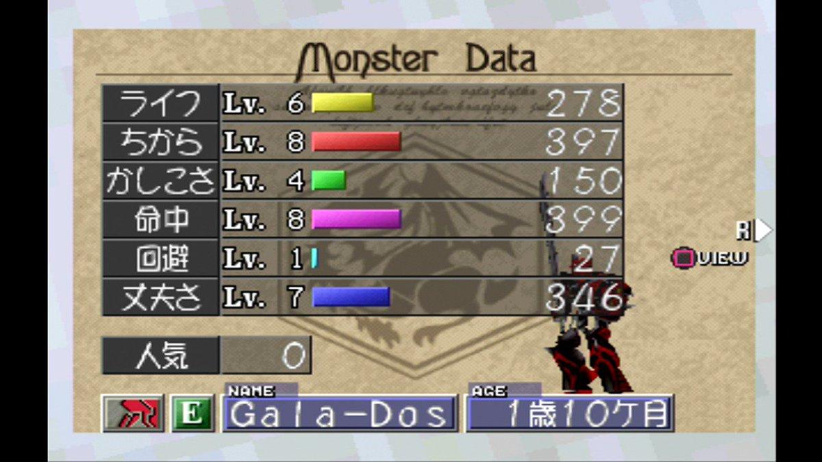 モンスター ファーム 2 成長