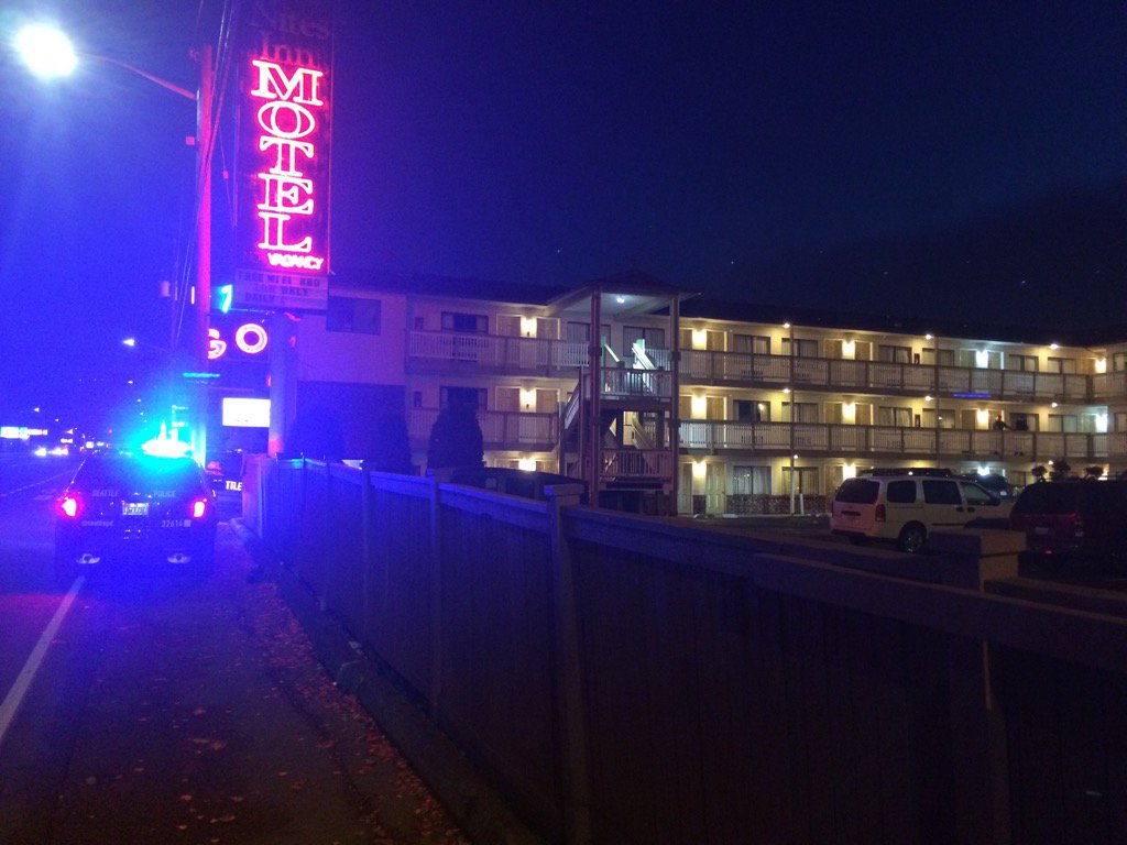 Reported assault at the Nites Inn on Aurora. Seattle Police investigating not sure of much.more details